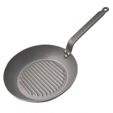 Patelnia grillowa okrągła CARBONE PLUS<br />model: D-5530-26<br />producent: de Buyer