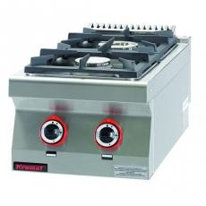 Kuchnia gastronomiczna gazowa 2-palnikowa | KROMET 700.KG-2<br />model: 700.KG-2.A<br />producent: Kromet