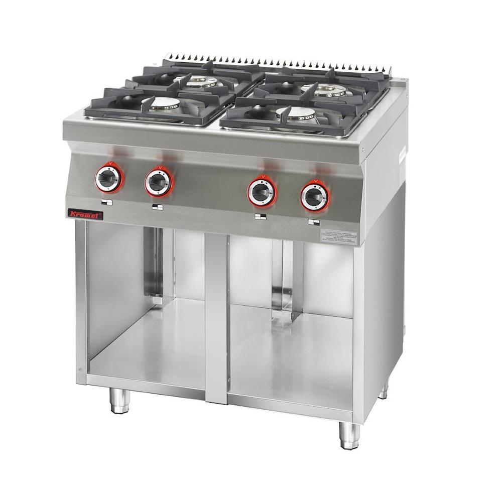Kuchnia gastronomiczna gazowa 4 palnikowa  KROMET 700 KG