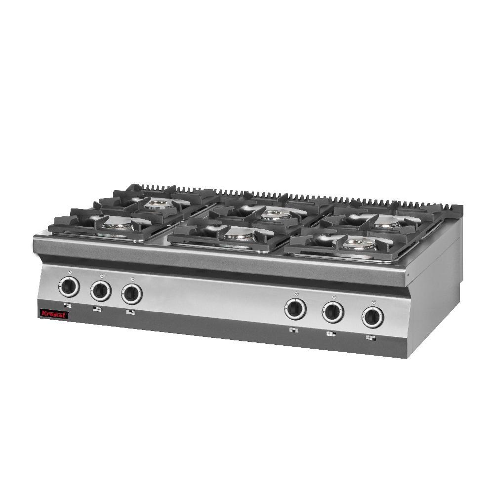 Kuchnia gastronomiczna gazowa 6 palnikowa 700 KG 6 -> Kuchnia Gazowa Kromet Cześci