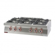 Kuchnia gastronomiczna gazowa 6-palnikowa | KROMET 700.KG-6 - 700.KG-6