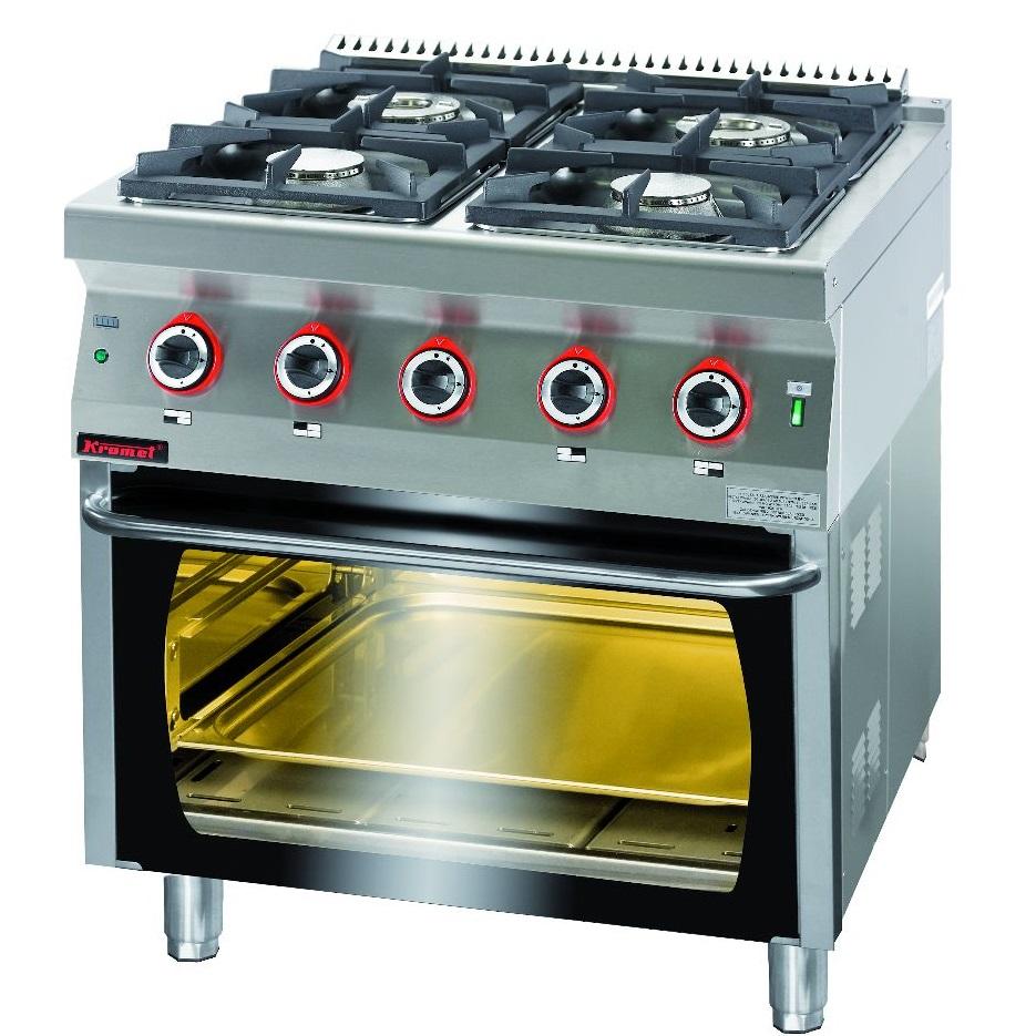 Kuchnia gastronomiczna gazowa 4 palnikowa z piekarnikiem   -> Kuchnia Gazowa Kromet Cześci