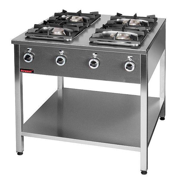 Kuchnia gastronomiczna gazowa 4 palnikowa 000 KG 4M -> Kuchnia Gazowa Kromet Cześci