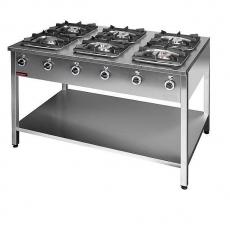 Kuchnia gastronomiczna gazowa 6-palnikowa   KROMET 000.KG-6M<br />model: 000.KG-6M<br />producent: Kromet