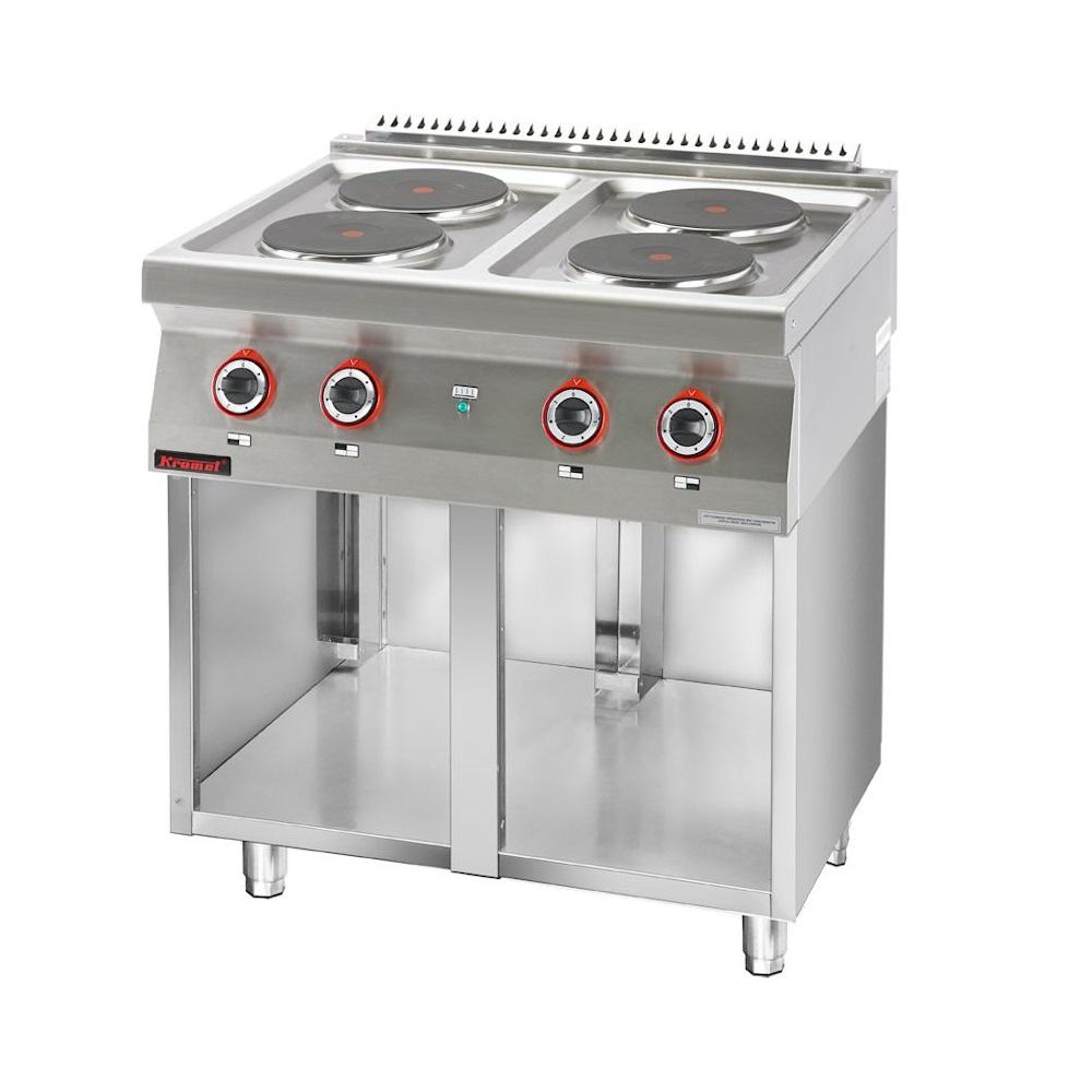 Kuchnia gastronomiczna elektryczna 4 płytowa  KROMET 700 KE 4  700 KE 4 -> Kuchnia Elektryczna Gastronomiczna Używana