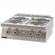 Kuchnia gastronomiczna elektryczna 4-płytowa | KROMET 700.KE-4 - 700.KE-4