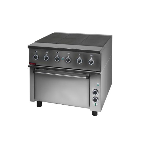 Kuchnia gastronomiczna elektryczna 6 płytowa z piekarnikiem 000 KEZ 6PAA -> Kuchnia Elektryczna Z Piekarnikiem Gastronomiczna