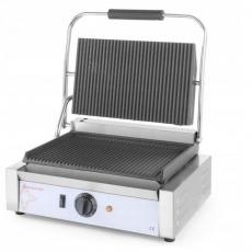 Grill kontaktowy pojedynczy ryflowany Panini<br />model: 263631<br />producent: Revolution