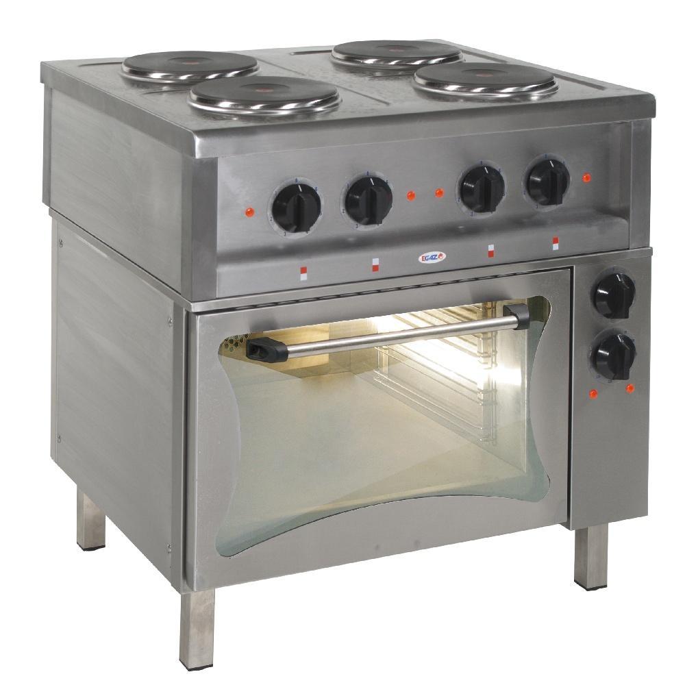 Kuchnia gastronomiczna elektryczna 4 płytowa z piekarnikiem KE 47 PKE 1 -> Kuchnia Elektryczna Z Piekarnikiem Gastronomiczna