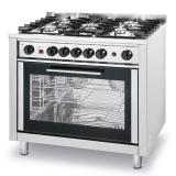 Kuchnia gastronomiczna gazowa 5-palnikowa z piekarnikiem 225707