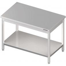 Stół roboczy nierdzewny składany centralny z półką<br />model: 980107080<br />producent: Stalgast