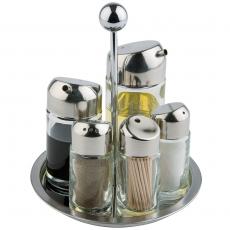 Elegancki zestaw do przypraw 5-elementowy<br />model: 362250<br />producent: Stalgast