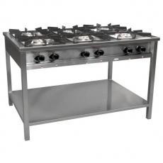 Kuchnia gastronomiczna gazowa 6-palnikowa   EGAZ TG-6732.III<br />model: TG-6732.III<br />producent: Egaz