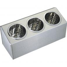 Pojemnik na sztućce 3-częściowy<br />model: 815300<br />producent: Stalgast