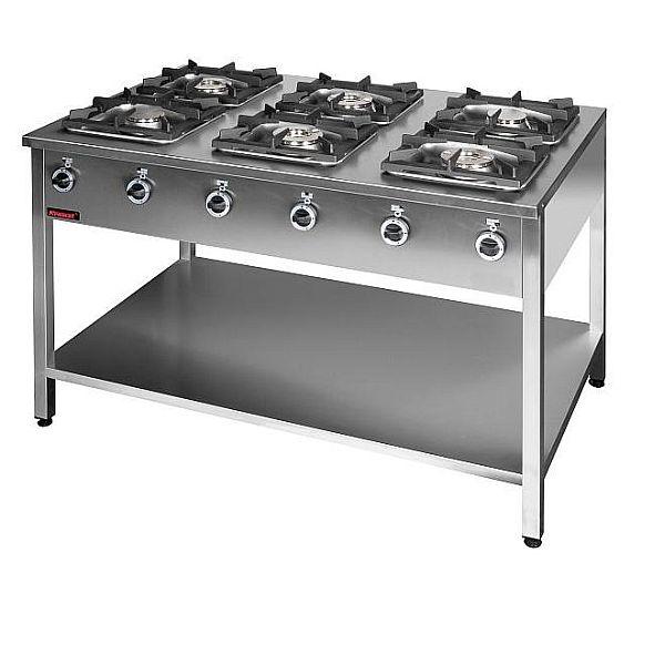 Kuchnia gastronomiczna gazowa 6 palnikowa 000 KG 6L -> Kuchnia Gazowa Kromet Cześci