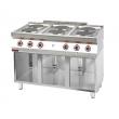 Kuchnia gastronomiczna elektryczna 6-płytowa | KROMET 700.KE-6 - 700.KE-6