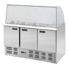 Lada chłodnicza sałatkowa 3-drzwiowa z  nadstawką<br />model: 842232<br />producent: Stalgast