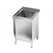 Stół nierdzewny ze zlewem 1-komorowym i szafką E2050/700/600