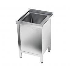 Stół nierdzewny ze zlewem 1-komorowym i szafką<br />model: E2050/500/700<br />producent: ProfiChef